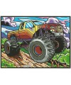 COLORIAGE 4X4 MONSTER TRUCKS