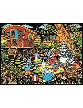 la roulotte et les lapins