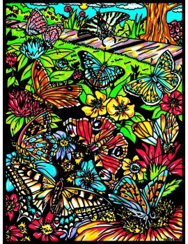 GRAND COLORIAGE PAPILLON