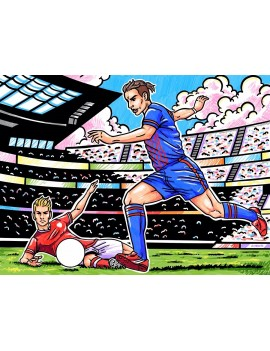 COLORIAGE EN VELOURS FOOTBALL