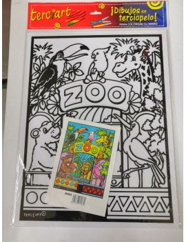 COLORIAGE EN VELOURS LE ZOO