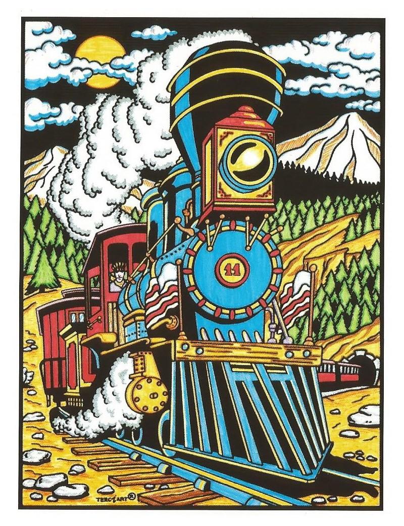 Coloriage En Velours Le Train