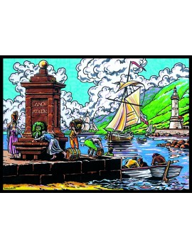 COLORIAGE EN VELOURS LE PORT