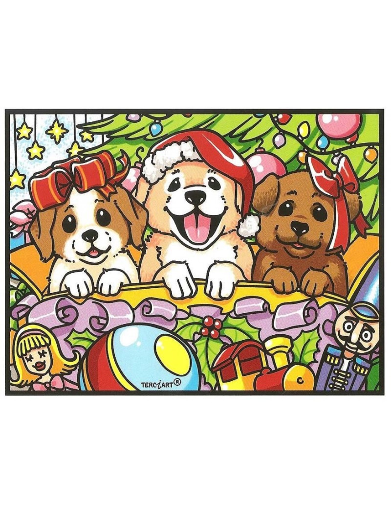 trois chiens decor noel