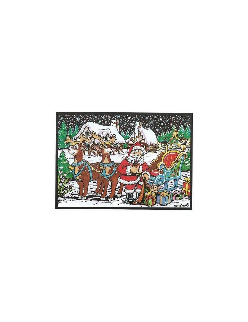 Coloriage Le Père Noel Et Son Traineau Terciart