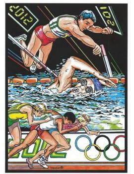 coloriage  jeux olympiques