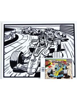 Grand Coloriage La Formule 1 En Velours Terciart