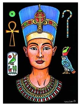 Coloriage Néfertiti